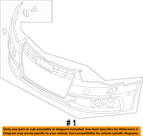 AUDI OEM 13-15 S6-Bumper Cover 4G0807065GGRU