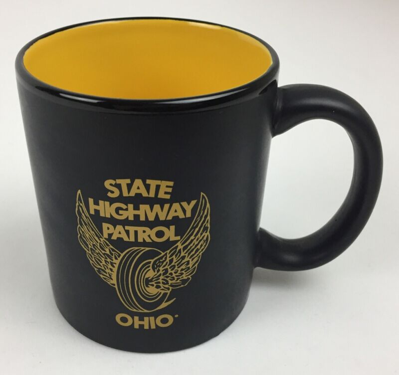 Ohio State Highway Patrol Vintage Mug Coffee Tea Black and Yellow