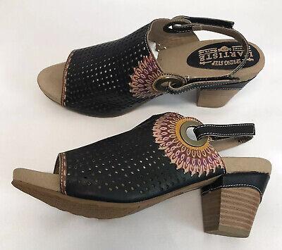 L'Artiste by Spring Step Millie Womens Swing Back Sandals Heels EUR 39/8.5  -