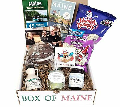 5 item Maine Made Gift Box filled with Jam, Syrup, Chips - Mom Care Package