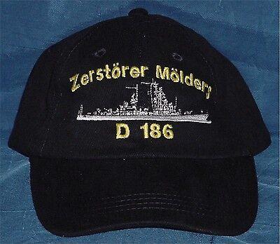 "Marine Basecap Mütze Zerstörer ""Mölders"" D186 ...........B3214"