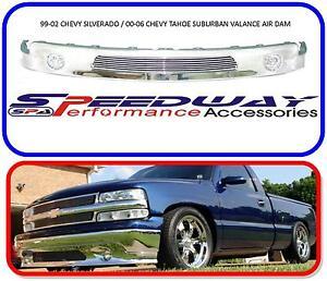 1999 2000 2001 2002 chevy silverado suburban tahoe truck bumper air dam valance ebay