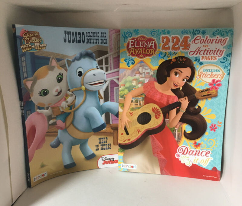 Lot Of 2 Disney Coloring And Activity Books For Girls