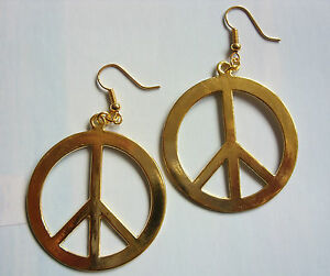 Large-Gold-Colour-CND-Peace-Sign-40mm-Earrings-Punk-Goth-Hippy-Retro-Kitsch