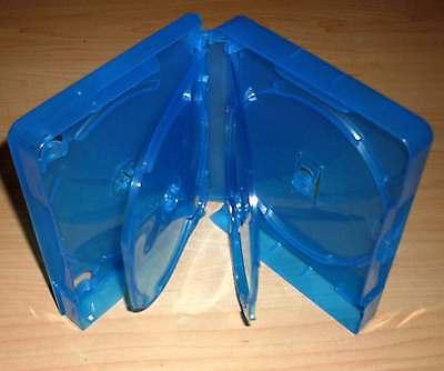Blu Ray Hülle Fünffach 5fach 5-fach blau Blu-Rays Blue Ray Rückenbreite 25mm Neu
