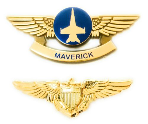 TOP GUN MOVIE MAVERICK and NAVY PILOT WINGS