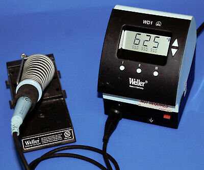 Weller Wd1 120v Digital Soldering Station With Iron Pencil Tip And Stand Tested