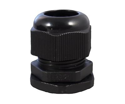 12 Npt Black Nylon Cable Glands With Gasket And Lock-nut 10 Pack