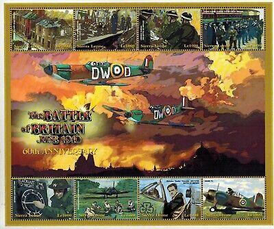 MODERN GEMS -Sierra Leone -Battle of Britain 60th Anniv. III - Sheet of 8 - MNH