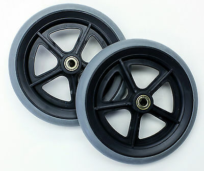 "Wheelchair Parts 8"" Front Rear Wheel 7/16"" Drive Karman C81BG-716 2 pcs NEW"