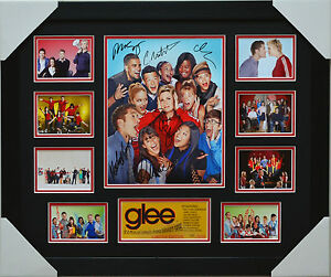 GLEE SIGNED AND FRAMED LIMITED EDITION MEMORABILIA