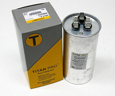 Titanpro Trcfd7075 Hvac Round Dual Motor Run Capacitor. 707.5 Mfduf440370