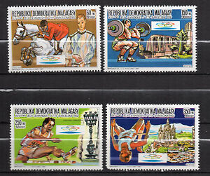 Madagascar-1987-Olympic-Games-Barcelona-92-New-MNH-set-4-items