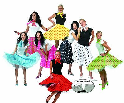 Kostüm 50er Jahre Rock N Roll Tellerrock gepunktet - 1950er Jahre Kostüme