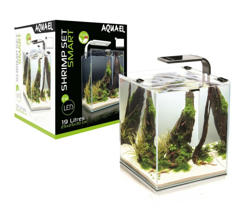 AQUAEL Aquarium SHRIMP SET 2 Nano komplett inkl.LED Beleuchtung, Filter, Heizer