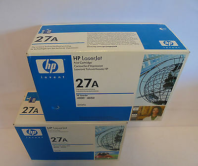 Zwei Laserjet (€ 45,00 ...ZWEI (!) HP C4127A  27A  Toner f. Laserjet 4000 4050 NEU & OVP )