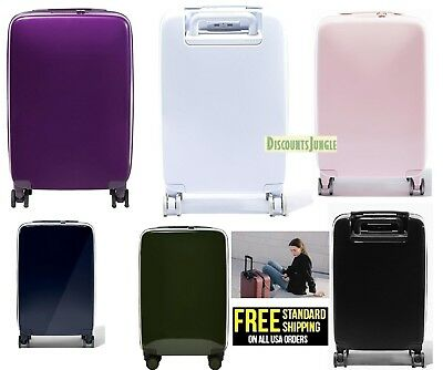 RADEN A22 USB SMART LUGGAGE HARDSIDE CARRY ON Spinner 22'' INCH SUITCASE - White Suitcase