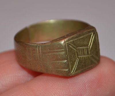 Antique African Tuareg Ethnic Tribal Metal Ring From Niger, Africa - Ring Size 6