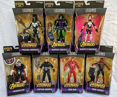 Marvel Legends Avengers Infinity War Thanos Wave BAF Complete Set  New