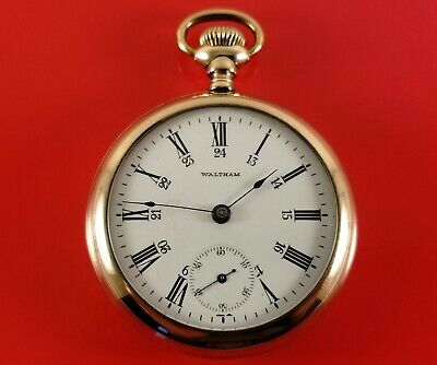 Antique Waltham Pocket Watch Gold Fill 18 Size Stem Set S/N 9748053 Ca.1901