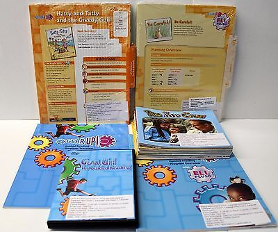Gear Up,Ell Fluency Kit: Grade 1-2 Guided Reading,ELL Lesson Plans,DVD,Books (6) Guided Reading Lesson Plans