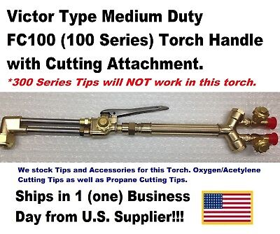 Victor Type 100fc Cutting Torch Handle With Cutting Attachment-us Supplier