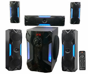 Rockville HTS56 1000w 5 1 Channel Home Theater with 8 inch Subwoofer - Black