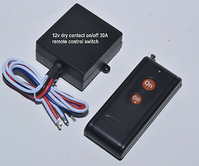 12V 30A dry contact 0Vout on-off long range remote control switch