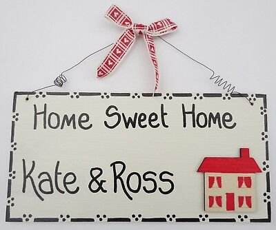 Personalised plaque sign Home Sweet Home House Warming Gift Present