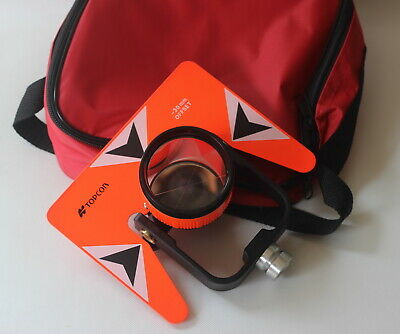 Red Metal Prism Set Wbag For Topcon Nikon Sokkia Pentax Total Station Survey