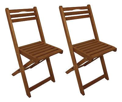 2x Klappstuhl PORTO aus Eukalyptus Holz, für innen + aussen, FSC®-zertifiziert - Stuhl Aus Holz