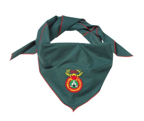 BOY SCOUT OFFICIAL NATIONAL CAMPING SCHOOL EMBROIDERED NECKERCHIEF 49X35 NEW BSA