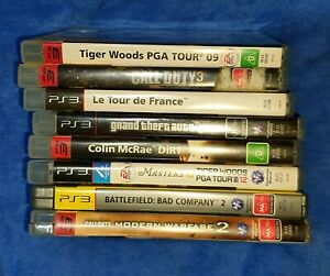 8 x PS3 Games with Instruction Booklets