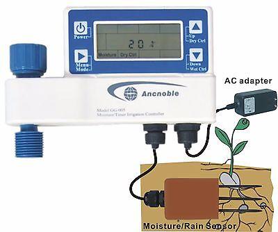 AC powered Home Garden Sprinkler Irrigation Controller Moisture Sensor Based