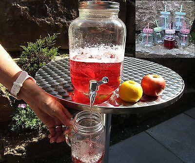 XL Getränkespender Dispenser Deko mit Zapfhahn + 6 Gläser Gratis 78/7851 / 7855