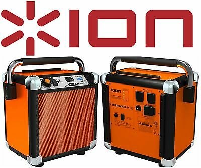 ION Audio Job Rocker Portable Bluetooth Speaker System AM/FM Radio Dual AC Power