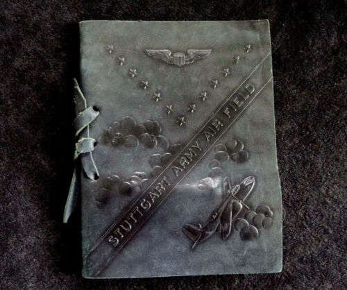WWII Stuttgart Army Airfield Graduation Class Book of 1944 with Sterling Wings