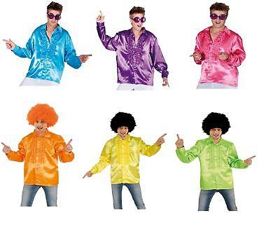Rüschenhemd Disco Hippie Hemd  70er Jahre Herren Motto Party  ()