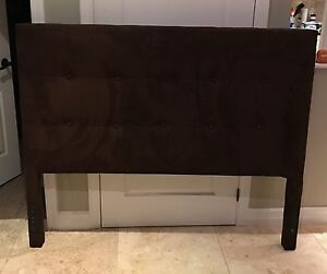 Brown Suede Headboard (Pier One Imports)