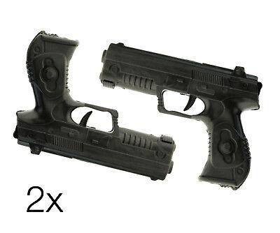 2X Pistolen Kostüm für Fasching Karneval Kinder Pistole Geheimagent