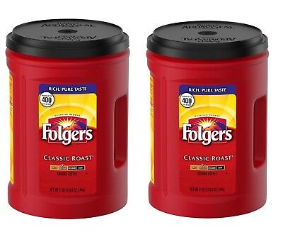 Folgers Classic Roast Ground Coffee 51 Oz 2 Pack   102 Oz Total