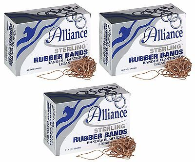 Alliance Sterling Rubber Bands 19 1lb 1700 Ct Pack Of 3 - Total 5100 Bands
