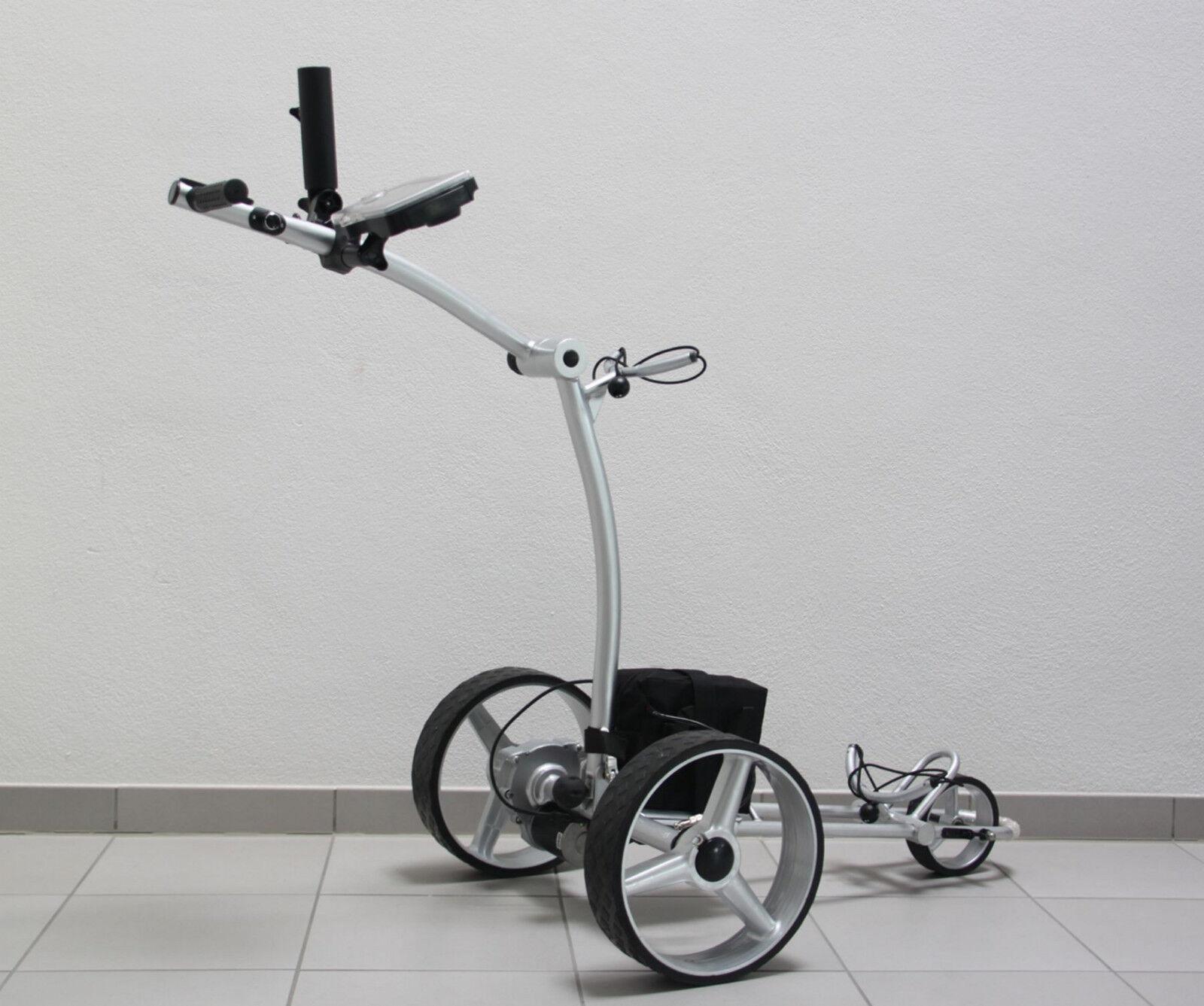 Elektro Golftrolley HGT-SP X2 Pro I, SILVER-LINE , zerlegbar, 350 Watt, Zubehör