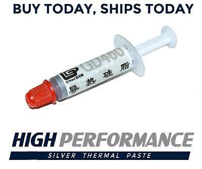 High Performance Silver Thermal Compound Paste Grease CPU GPU Syringe Tube Gray