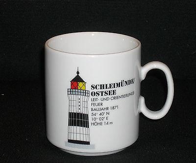 Leuchtturm Schleimünde Kaffeebecher Becher Ostsee Lighthouse Porzellan