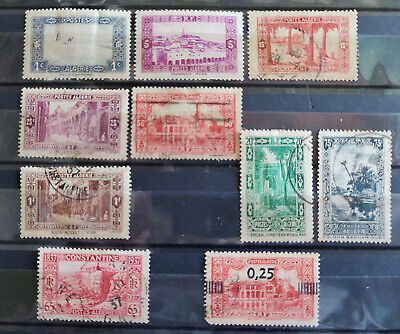 Algeria 1936-8, 10 stamp selection USED(8) MH(2)