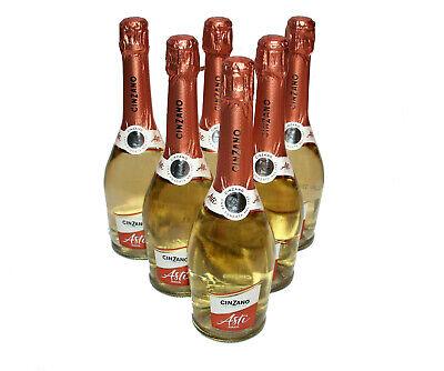 6 Flaschen Asti Cinzano Spumante Sekt süß 7% Vol. 0,75 l
