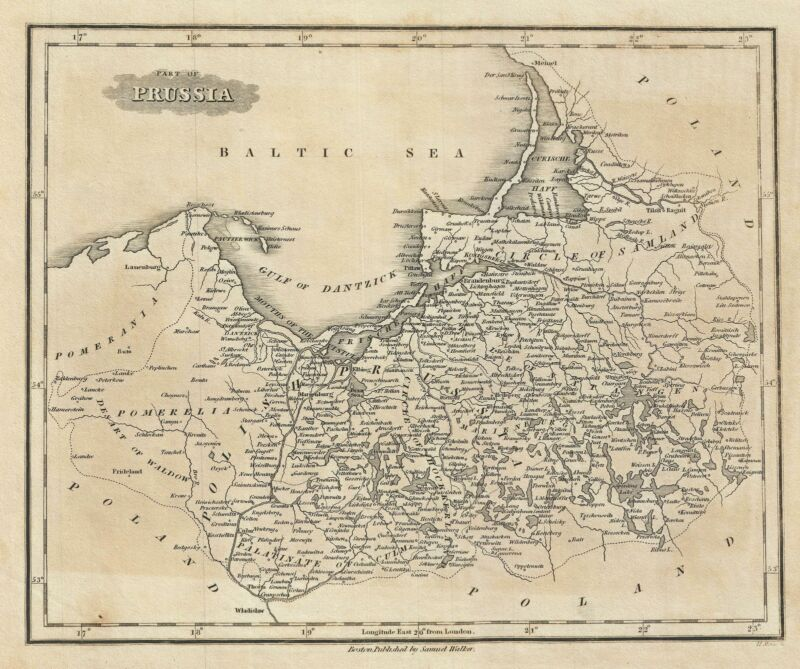 1828 Malte-Brun Map of Prussia or Northern Germany