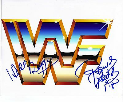ROWDY RODDY PIPER & HACKSAW JIM DUGGAN SIGNED 10X8 PHOTO (WWE) AFTAL COA (7080)