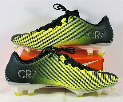 1cb1ddbc2 Nike Mercurial Vapor XI CR7 FG Ronaldo Volt Soccer Cleat Sz 6.5 NEW 852514  376